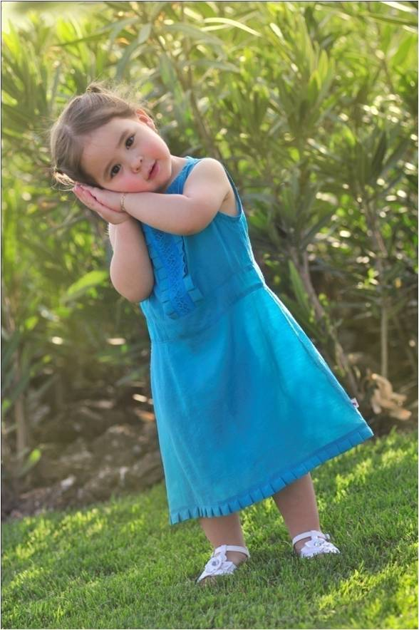 Embroidered Kids Mexican Dress
