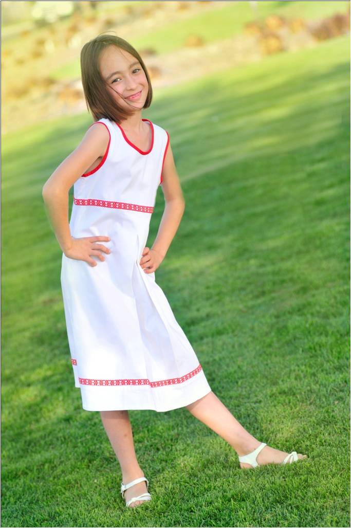 Girls White Mexican Dress