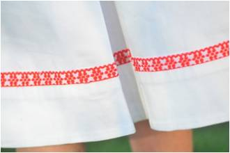 Girls White Mexican Dress Detail