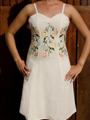 Mayan Embroidered Dress