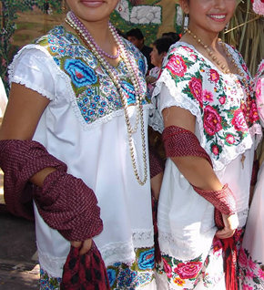 Mayan typical terno dress