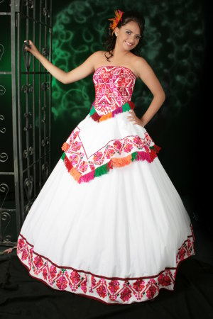Mexican Special Celebration Dress Quinceanera Attire