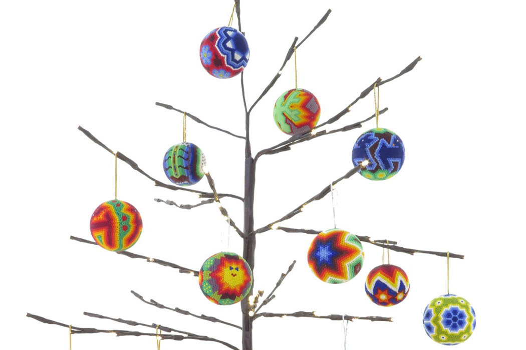 Indigenous Huichol Mexican Christmas Spheres