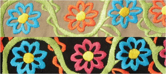 Embroidered Flowers Pattern
