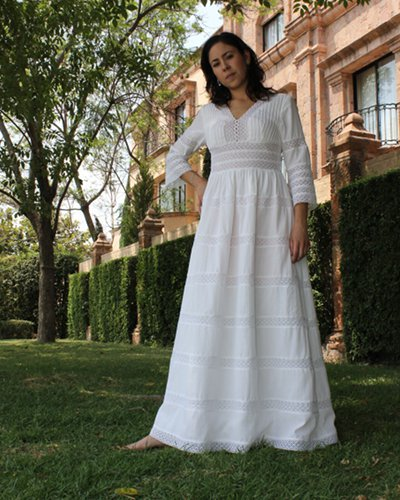 Perfect Mexican wedding dress for a relaxed ceremony