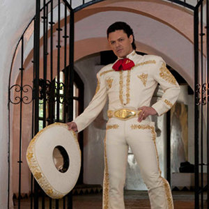 Pedro Fernandez on a White Charro Outfit