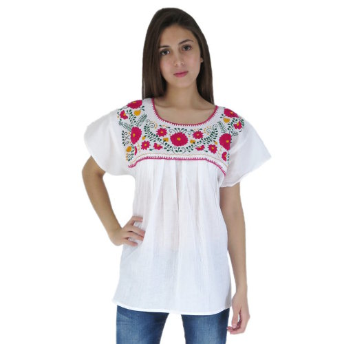 Mexican dresses, Mexican blouses and Mexican accessories for sale.