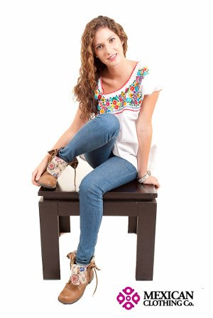 Cinco de Mayo Embroidered Blouse