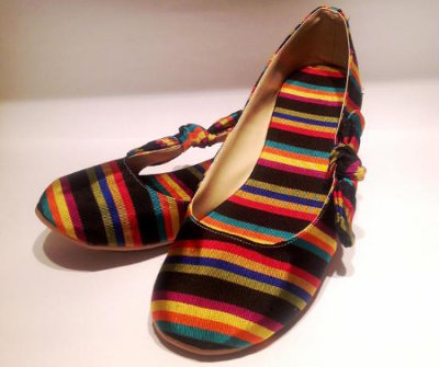 Mexican Rebozo Pattern Flat Shoes