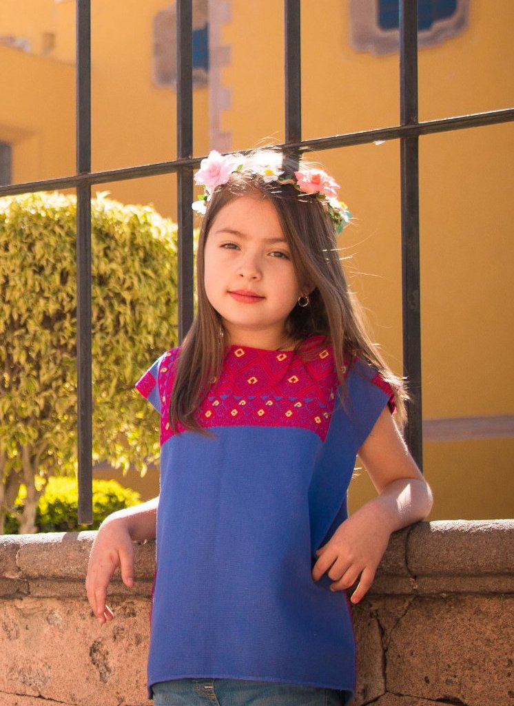 San Andres Mexican Blouse for Girls