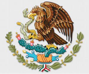 Mexican Symbol  - Eagle Eating Snake Over a Cactus
