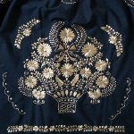 Typical Mexican embroidery in gold color over black