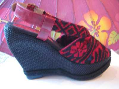 High Heel Mexican Shoes Rebozo Design